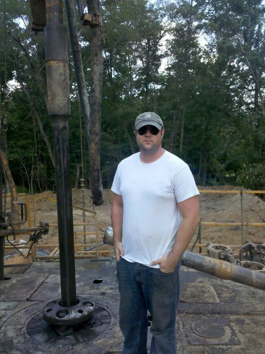 Chris Termeer - Pulling up to the Project 6 oil well location.
